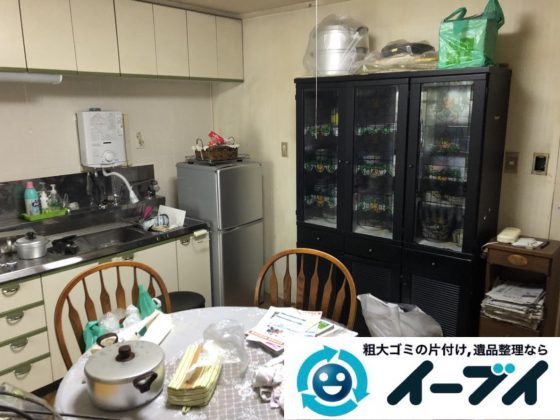 2019年3月25日大阪府大阪市此花区で退去に伴い、お家の家財道具の不用品回収。写真1