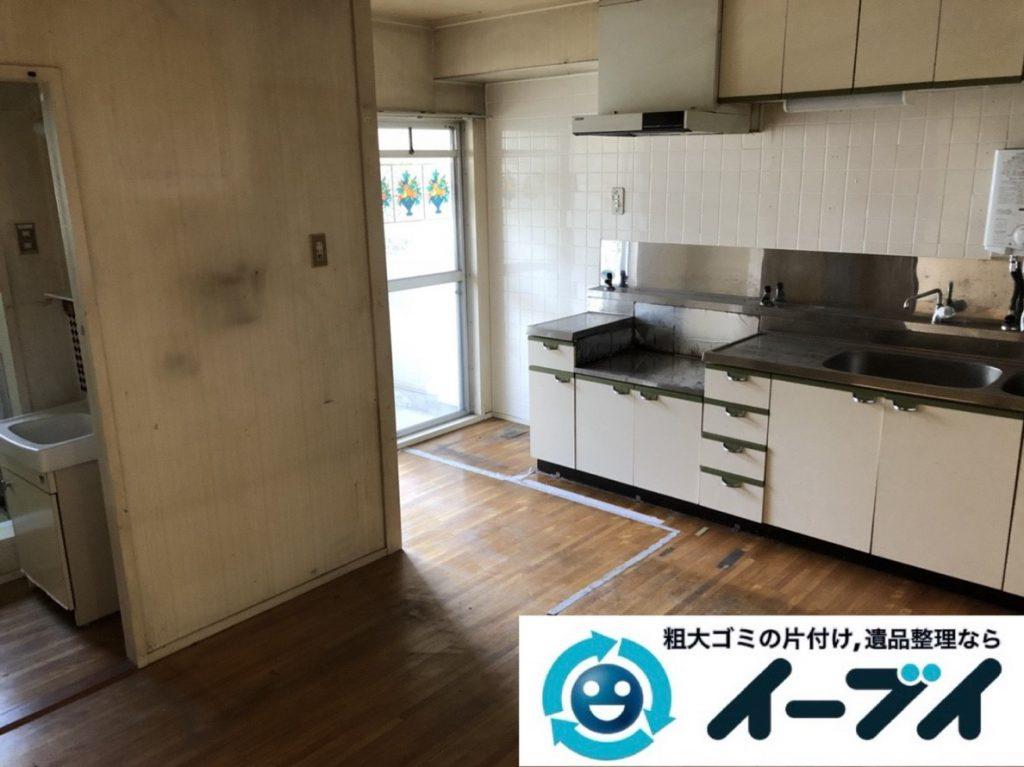2019年4月4日大阪府大阪市福島区でキッチンやお部屋の不用品回収。写真4