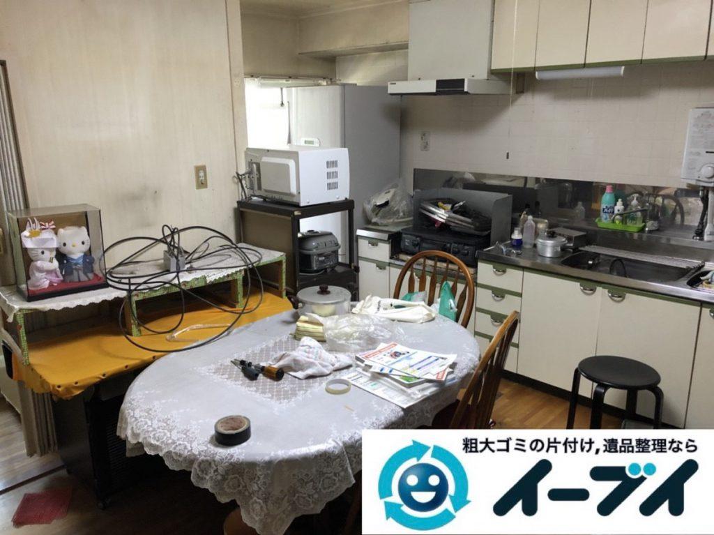 2019年4月4日大阪府大阪市福島区でキッチンやお部屋の不用品回収。写真3