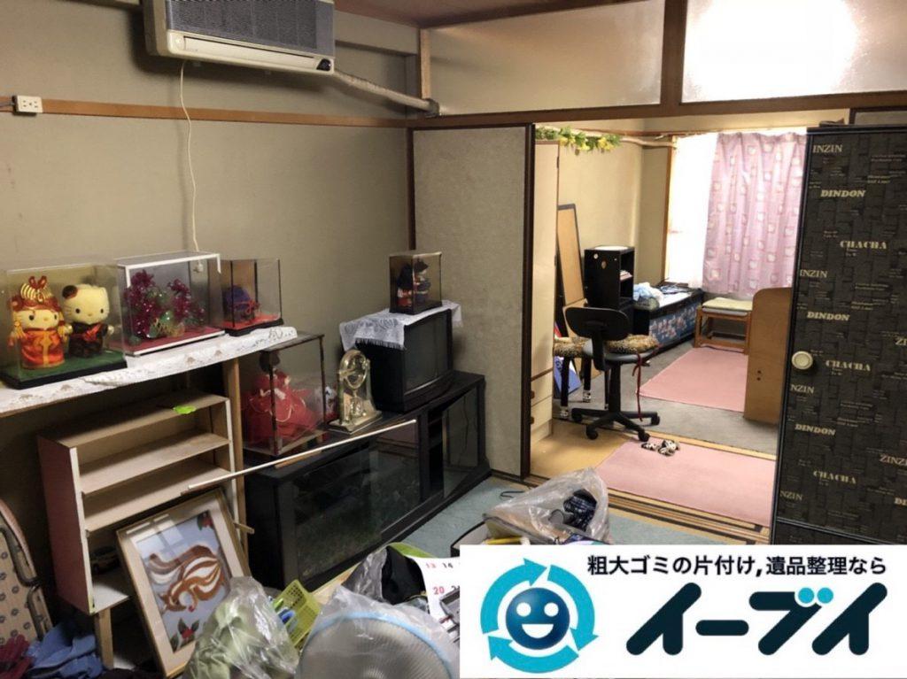 2019年4月4日大阪府大阪市福島区でキッチンやお部屋の不用品回収。写真1