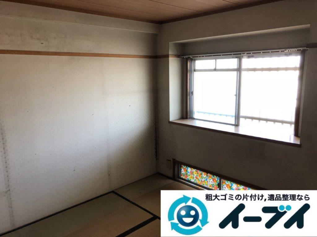 2019年3月27日大阪府大阪市都島区で引越しに伴い、お家の家財道具の不用品回収。写真2