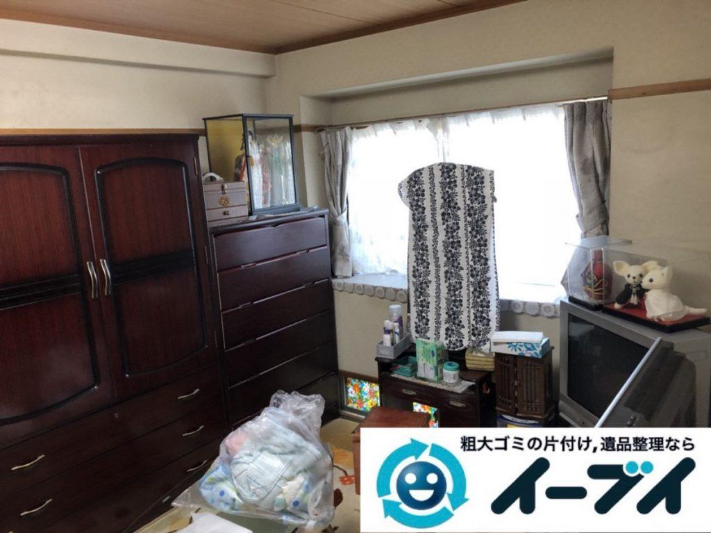 2019年3月27日大阪府大阪市都島区で引越しに伴い、お家の家財道具の不用品回収。写真1