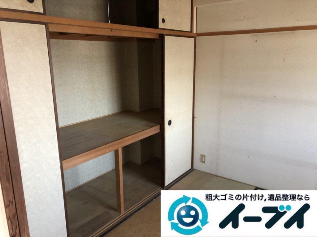 2019年3月20日大阪府大阪市東成区で家財道具の不用品回収。写真4