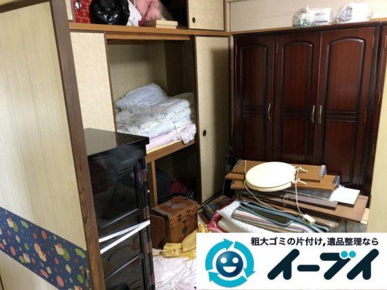 2019年3月20日大阪府大阪市東成区で家財道具の不用品回収。写真3