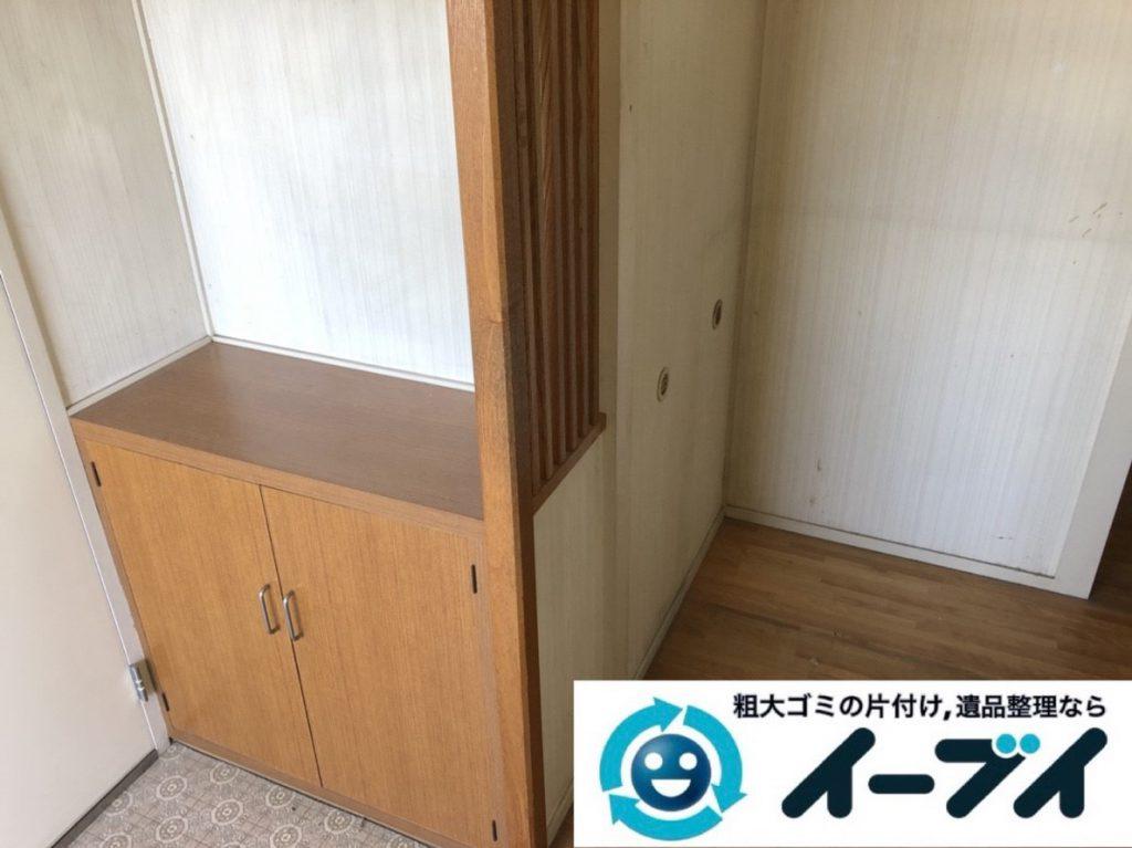 2019年3月20日大阪府大阪市東成区で家財道具の不用品回収。写真2