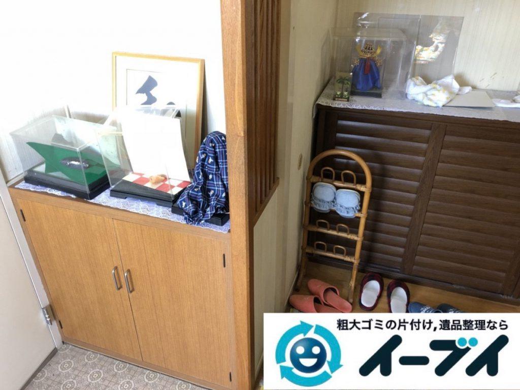 2019年3月20日大阪府大阪市東成区で家財道具の不用品回収。写真1
