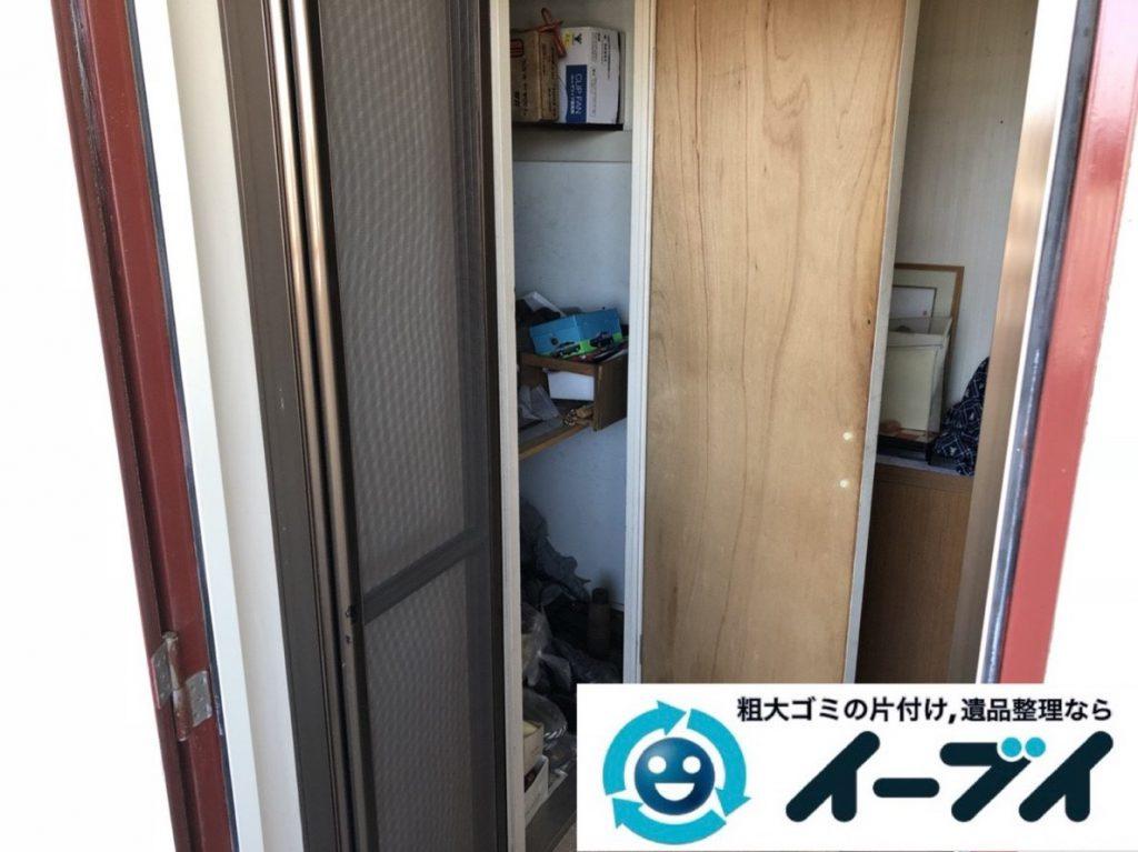 2019年4月7日大阪府大阪市淀川区で台所や収納棚の不用品回収作業。写真3