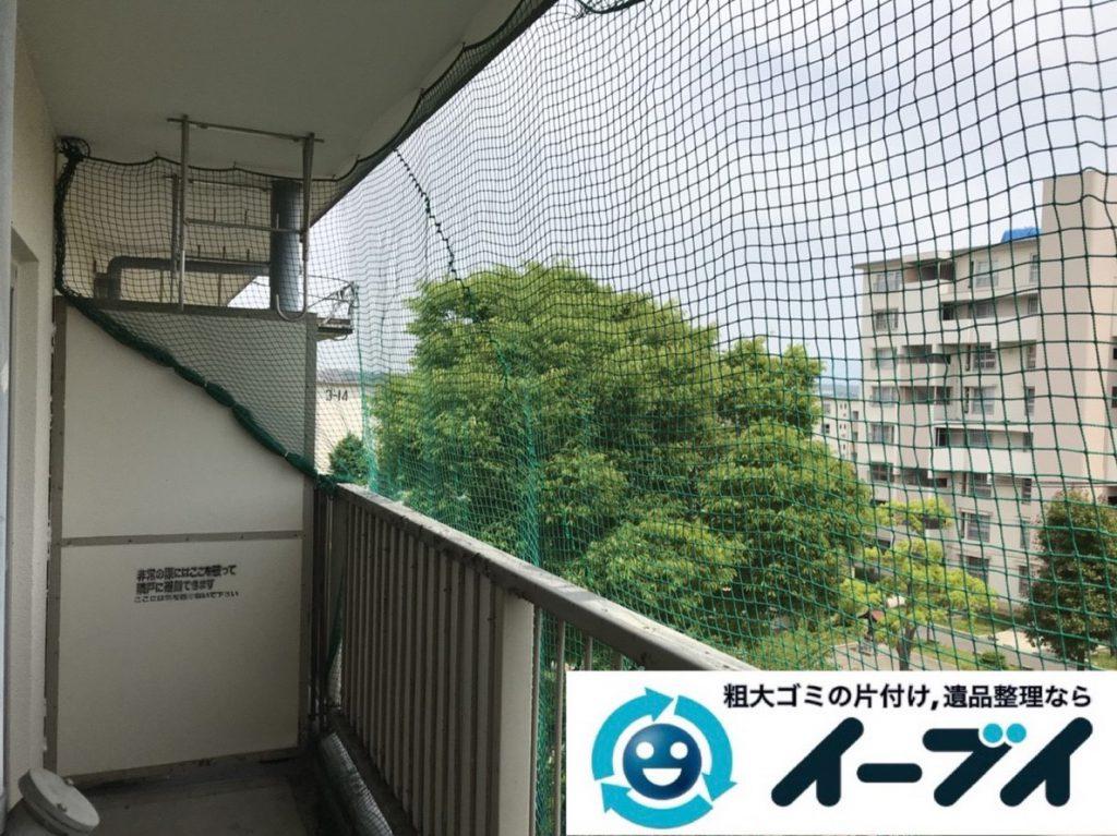 2019年3月24日大阪府大阪市浪速区でベランダとお部屋の不用品回収。写真3