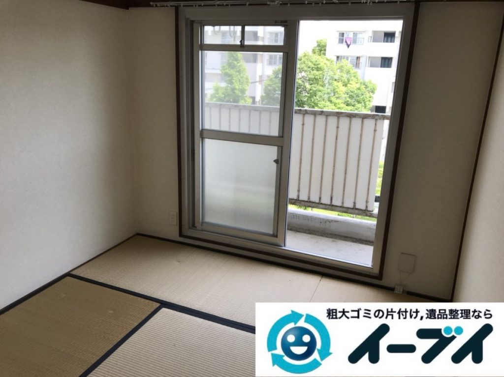 2019年3月24日大阪府大阪市浪速区でベランダとお部屋の不用品回収。写真2