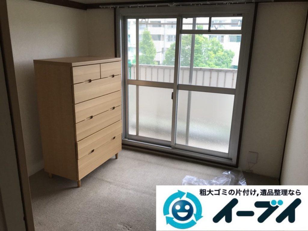 2019年3月24日大阪府大阪市浪速区でベランダとお部屋の不用品回収。写真1