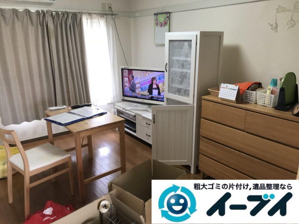 2019年4月2日大阪府大阪市西淀川区で引越しに伴いお家の家財道具一式処分させていただきました。写真1