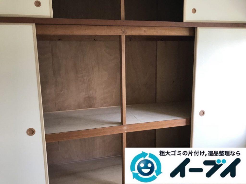 2019年3月30日大阪府大阪市天王寺区で押し入れの不用品回収。写真4