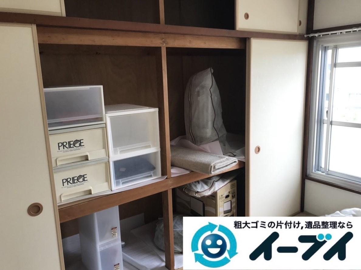 2019年3月30日大阪府大阪市天王寺区で押し入れの不用品回収。写真3