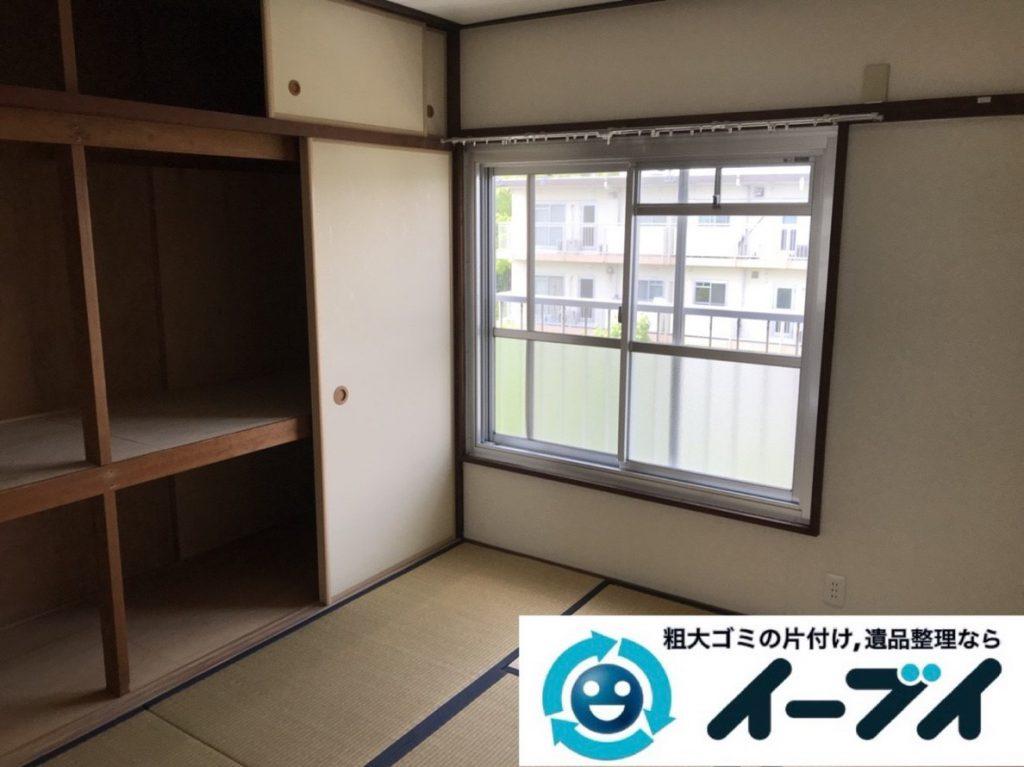 2019年3月30日大阪府大阪市天王寺区で押し入れの不用品回収。写真2
