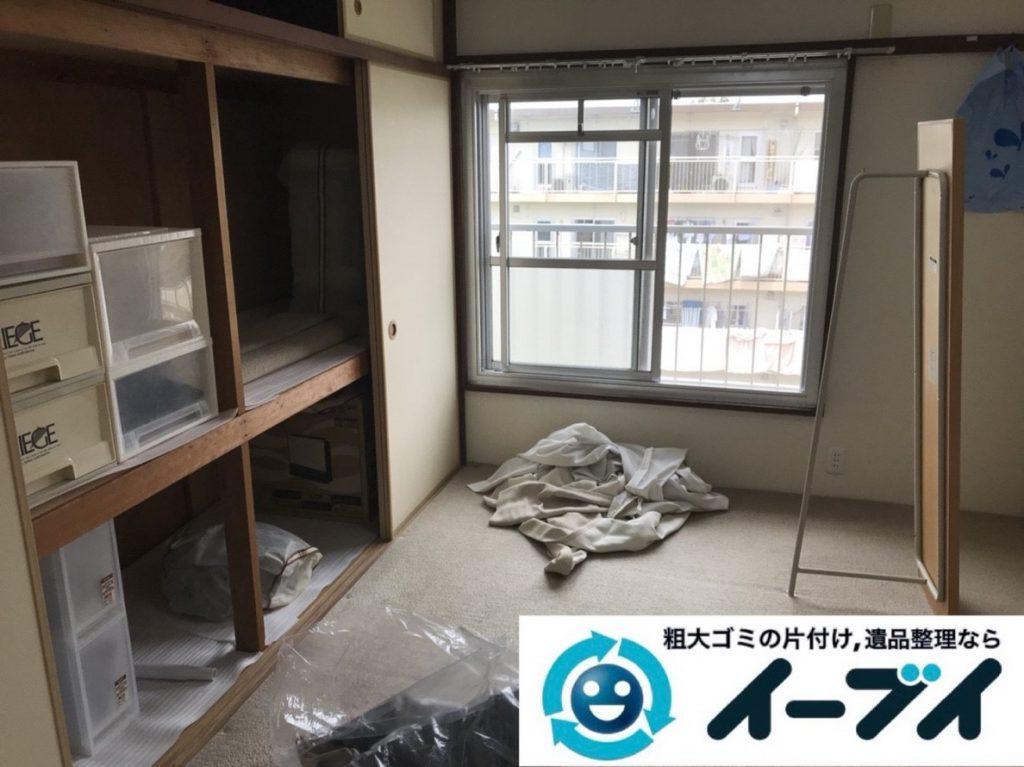 2019年3月30日大阪府大阪市天王寺区で押し入れの不用品回収。写真1