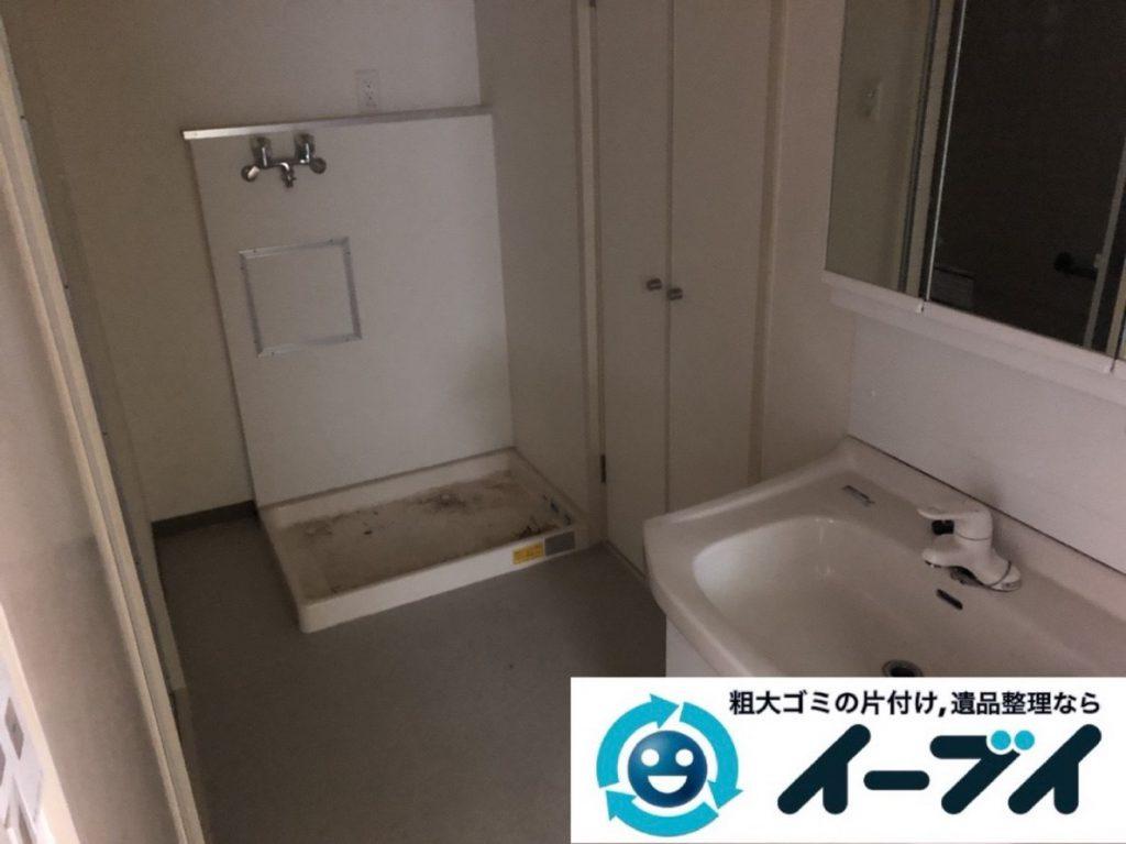 2019年3月28日大阪府大阪市大正区で物が散乱した台所、脱衣所を片付けさせていただきました。写真4