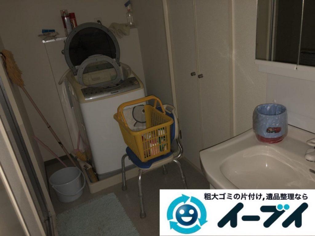 2019年3月28日大阪府大阪市大正区で物が散乱した台所、脱衣所を片付けさせていただきました。写真3