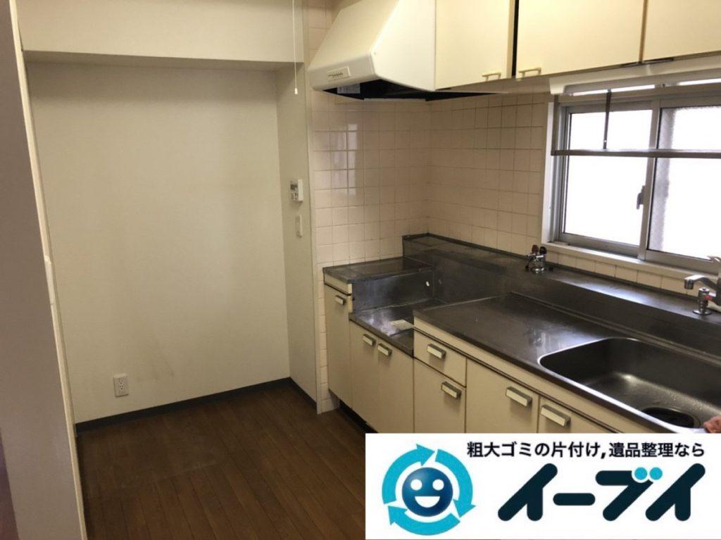 2019年3月28日大阪府大阪市大正区で物が散乱した台所、脱衣所を片付けさせていただきました。写真2