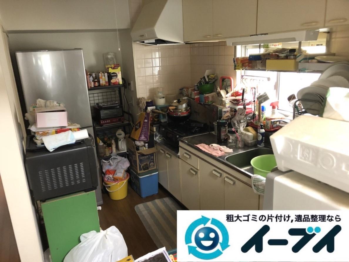 2019年3月28日大阪府大阪市大正区で物が散乱した台所、脱衣所を片付けさせていただきました。写真1