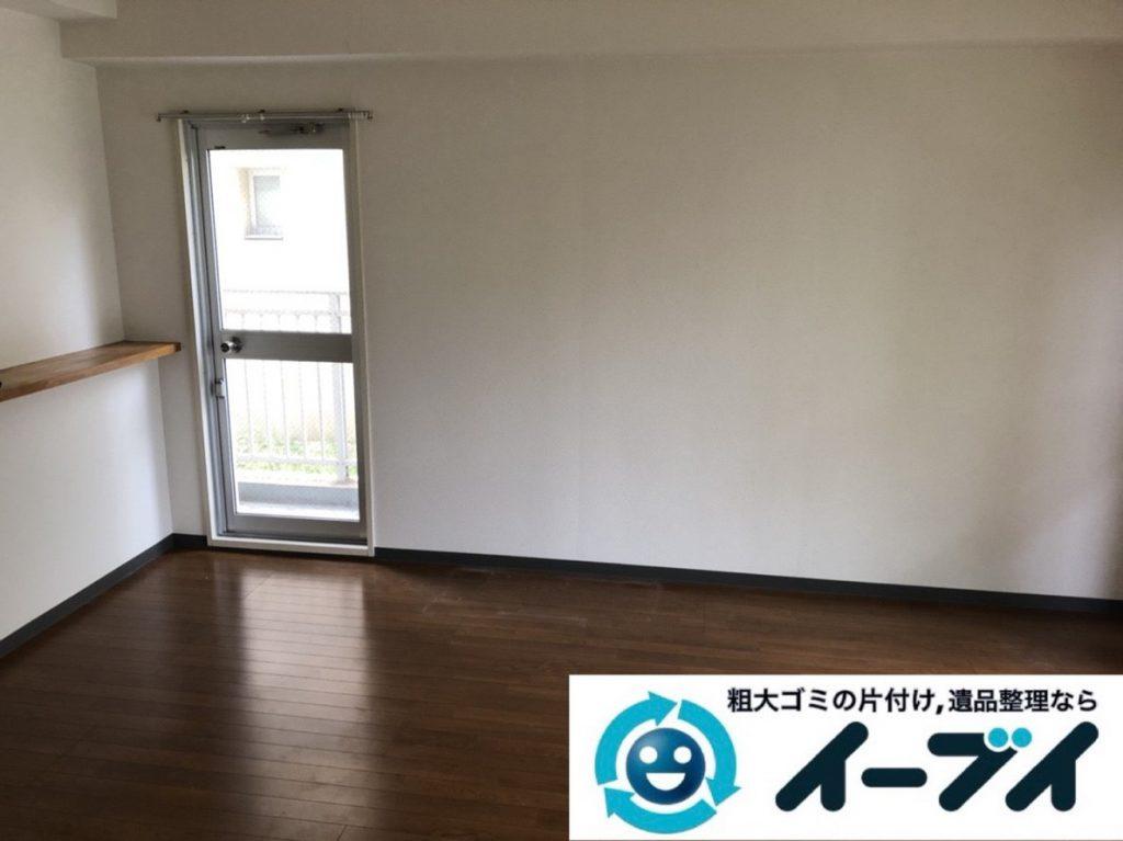 2019年3月31日大阪府大阪市阿倍野区で退去に伴い、お家の家財道具一式処分させていただきました。写真1