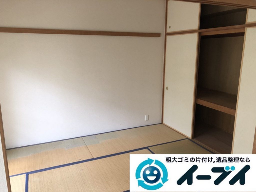2019年3月31日大阪府大阪市阿倍野区で退去に伴い、お家の家財道具一式処分させていただきました。写真3