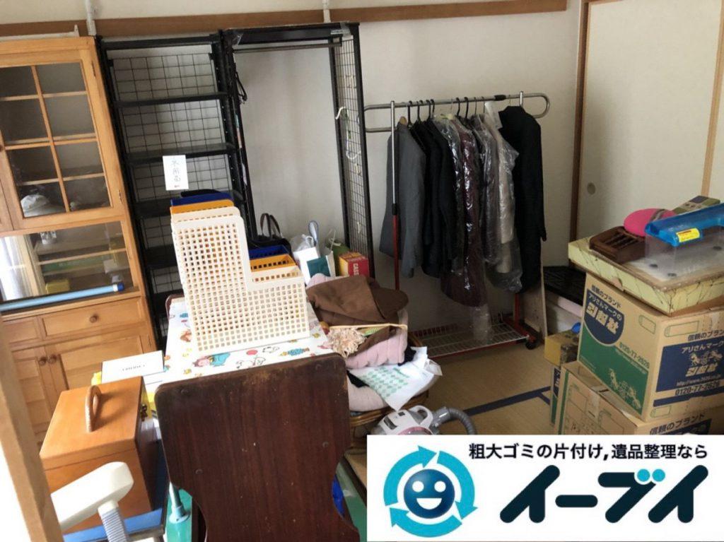 2019年3月31日大阪府大阪市阿倍野区で退去に伴い、お家の家財道具一式処分させていただきました。写真2