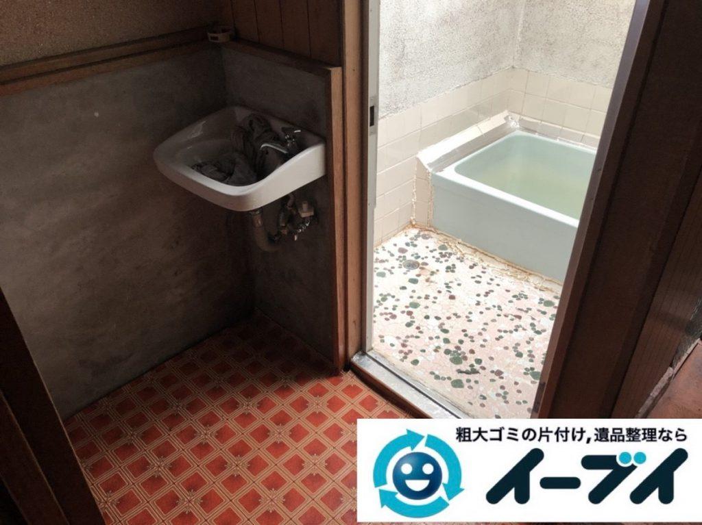 2019年3月12日大阪府大阪市港区で洗濯機や室外機の不用品回収。写真4