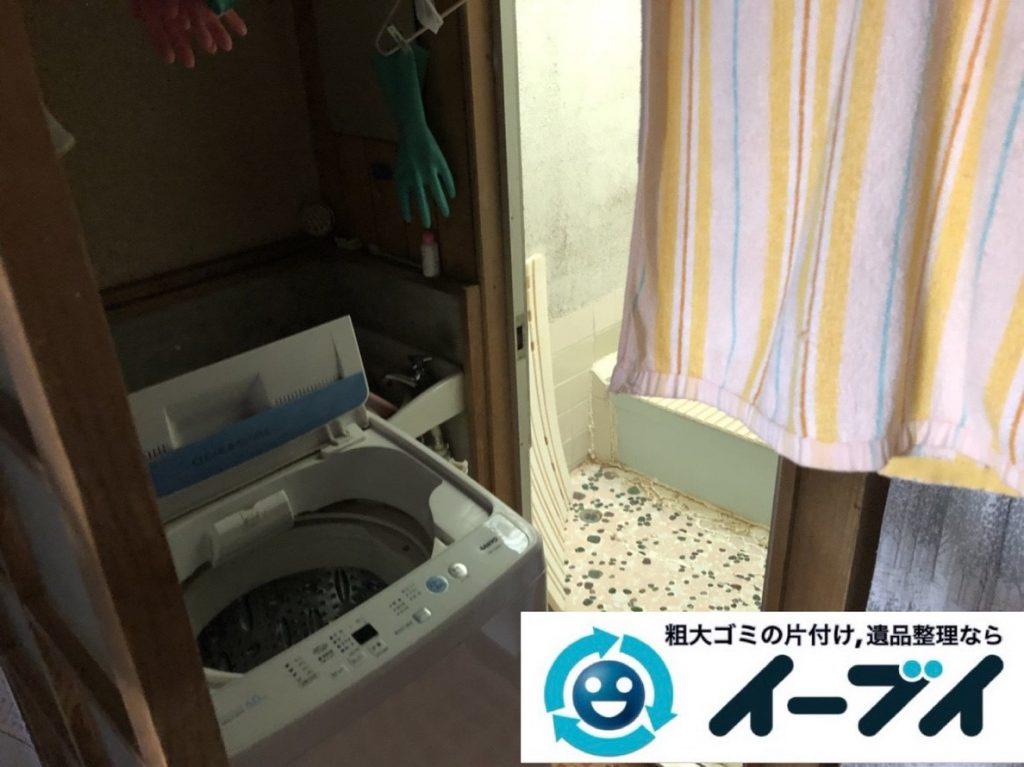 2019年3月12日大阪府大阪市港区で洗濯機や室外機の不用品回収。写真3