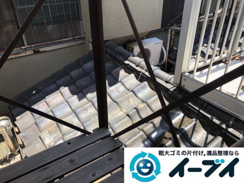 2019年3月12日大阪府大阪市港区で洗濯機や室外機の不用品回収。写真2