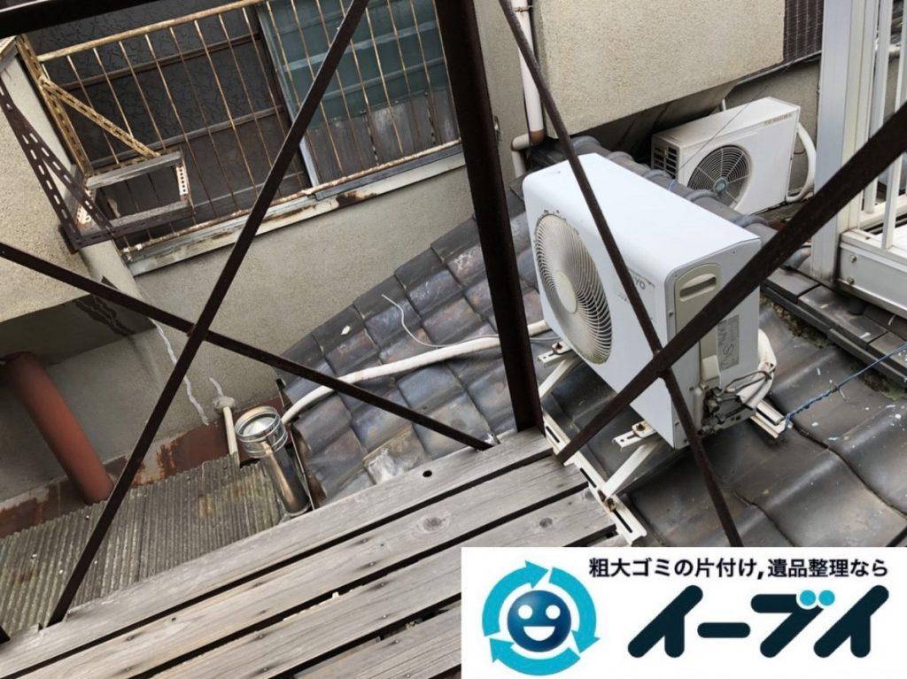 2019年3月12日大阪府大阪市港区で洗濯機や室外機の不用品回収。写真1