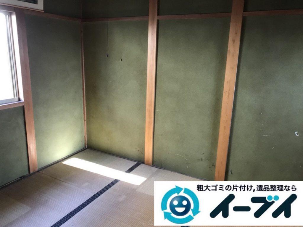 2019年3月15日大阪府大阪市中央区でお家の家財道具一式の不用品回収。写真4