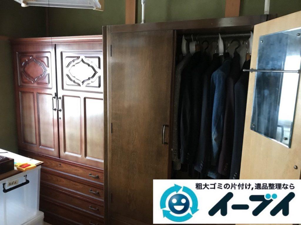 2019年3月15日大阪府大阪市中央区でお家の家財道具一式の不用品回収。写真3