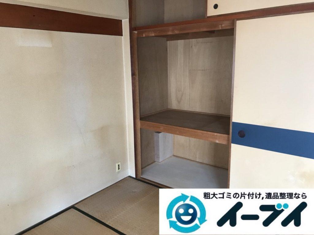 2019年3月29日大阪府大阪市城東区で部屋一室の不用品回収作業。写真4
