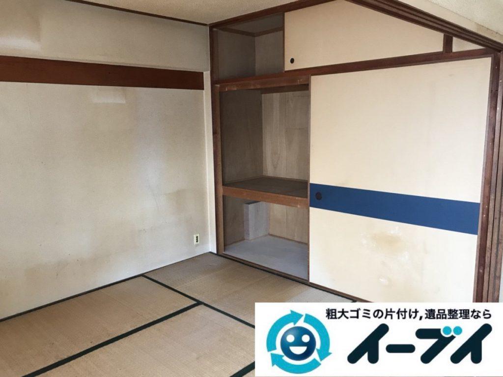 2019年3月29日大阪府大阪市城東区で部屋一室の不用品回収作業。写真2