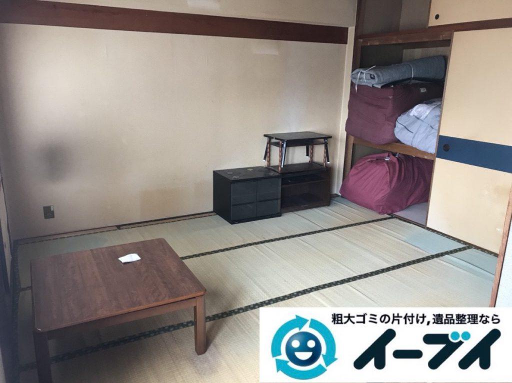 2019年3月29日大阪府大阪市城東区で部屋一室の不用品回収作業。写真1