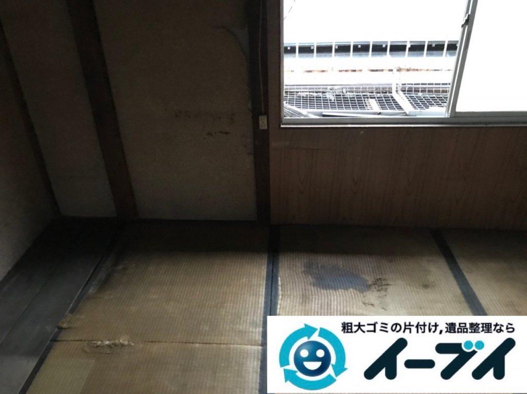 2019年5月1日大阪府吹田市で物やゴミが散乱し、ゴミ屋敷化した汚部屋を片付けさせていただきました。写真4