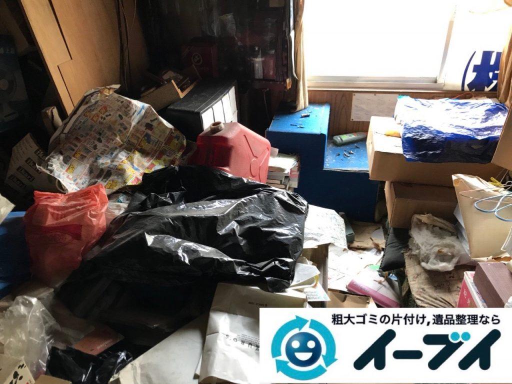 2019年5月1日大阪府吹田市で物やゴミが散乱し、ゴミ屋敷化した汚部屋を片付けさせていただきました。写真3
