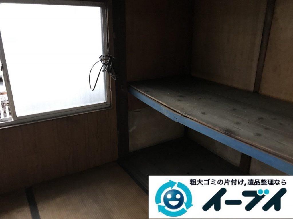 2019年5月1日大阪府吹田市で物やゴミが散乱し、ゴミ屋敷化した汚部屋を片付けさせていただきました。写真2