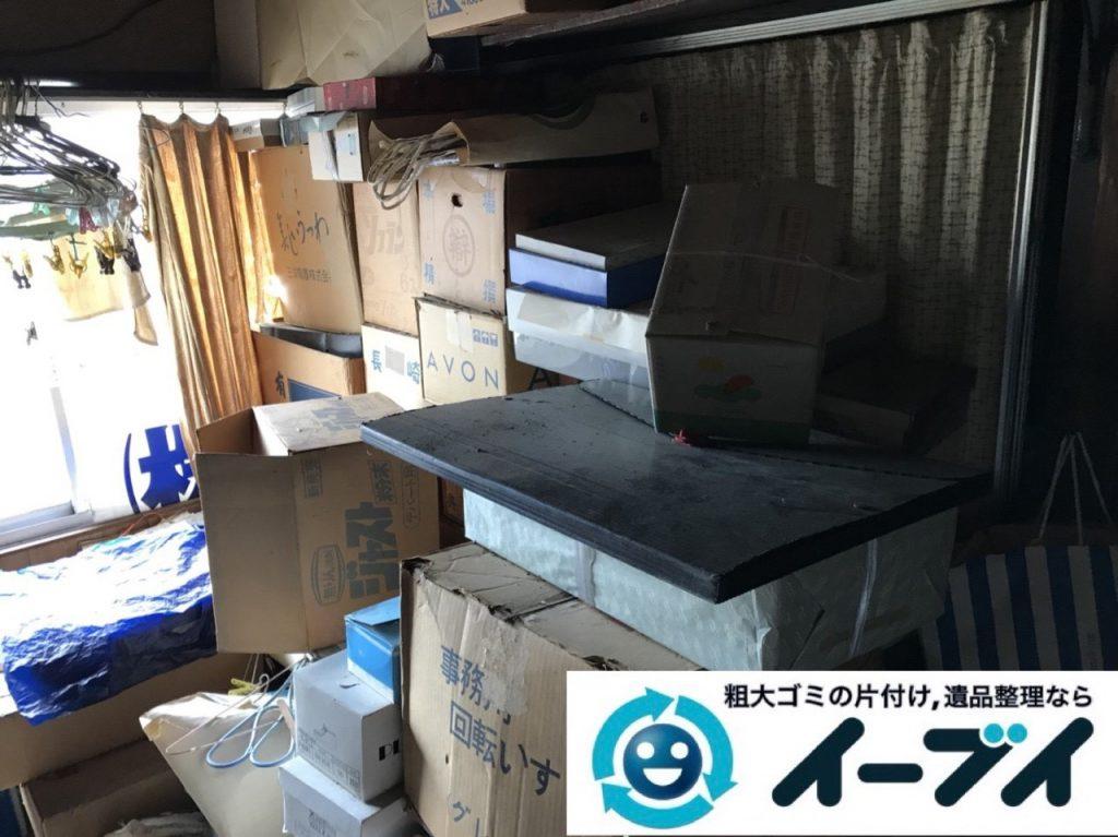 2019年5月1日大阪府吹田市で物やゴミが散乱し、ゴミ屋敷化した汚部屋を片付けさせていただきました。写真1