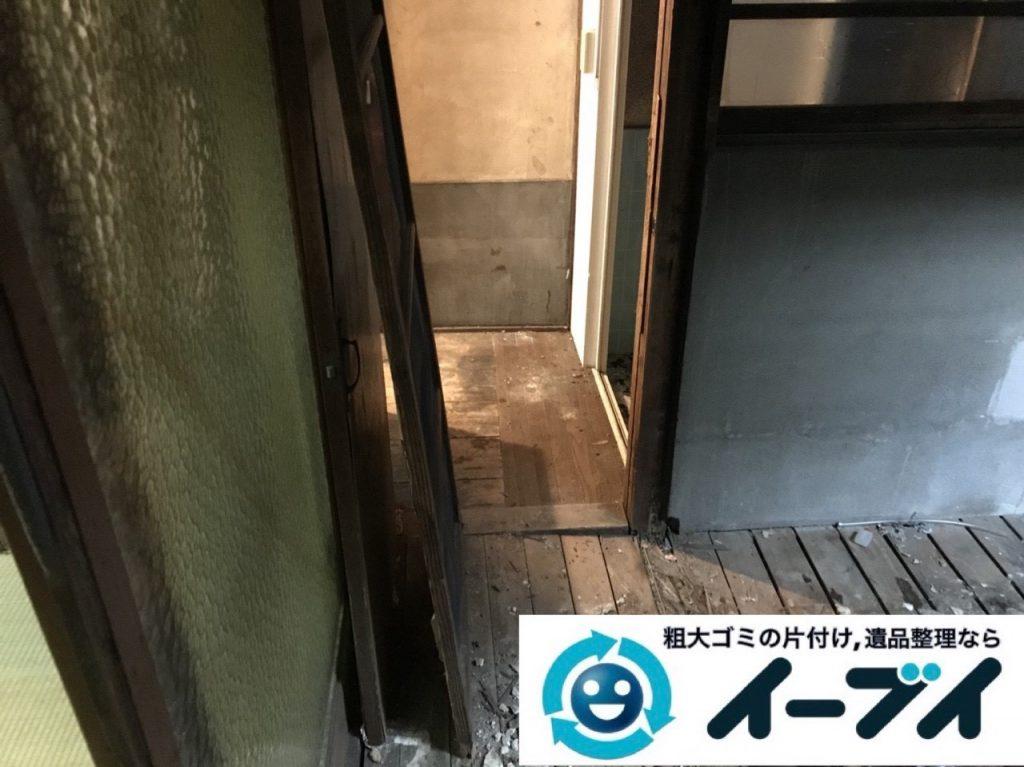 2019年5月4日大阪府門真市でゴミ屋敷化した汚部屋の片付け作業。写真4