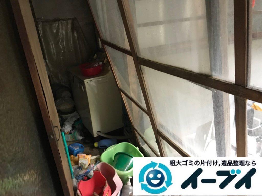 2019年5月4日大阪府門真市でゴミ屋敷化した汚部屋の片付け作業。写真3
