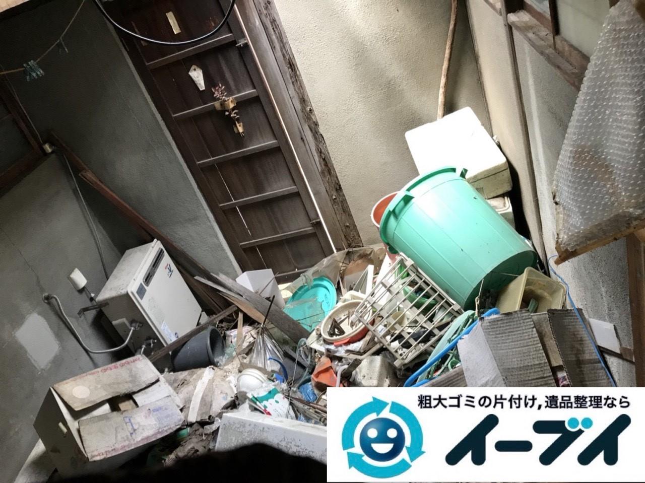 2019年5月4日大阪府門真市でゴミ屋敷化した汚部屋の片付け作業。写真1
