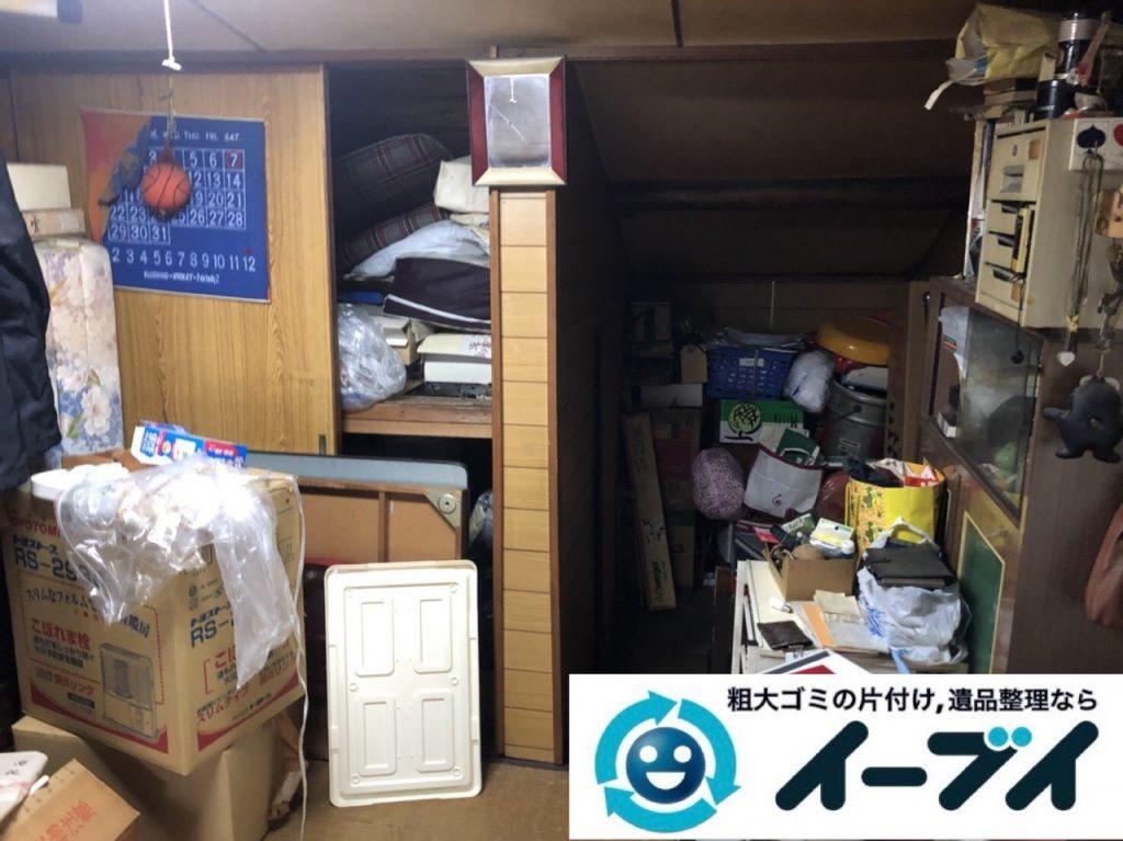 2019年5月26日大阪府箕面市で引越しに伴いお家の家財道具を全処分させていただきました。写真1