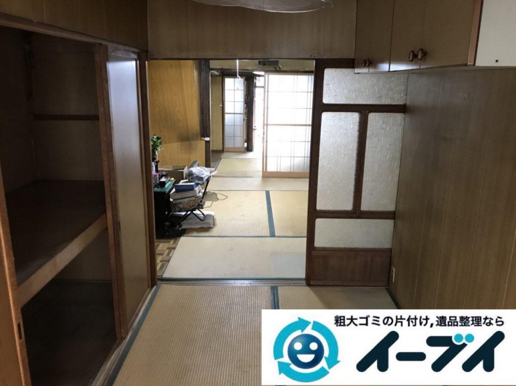 2019年4月16日大阪府八尾市でゴミ屋敷化した汚部屋の片付け作業。写真4