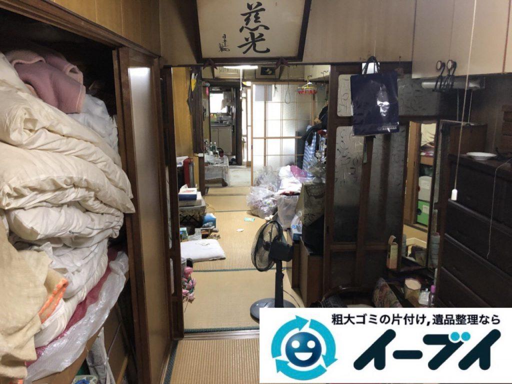 2019年4月16日大阪府八尾市でゴミ屋敷化した汚部屋の片付け作業。写真3