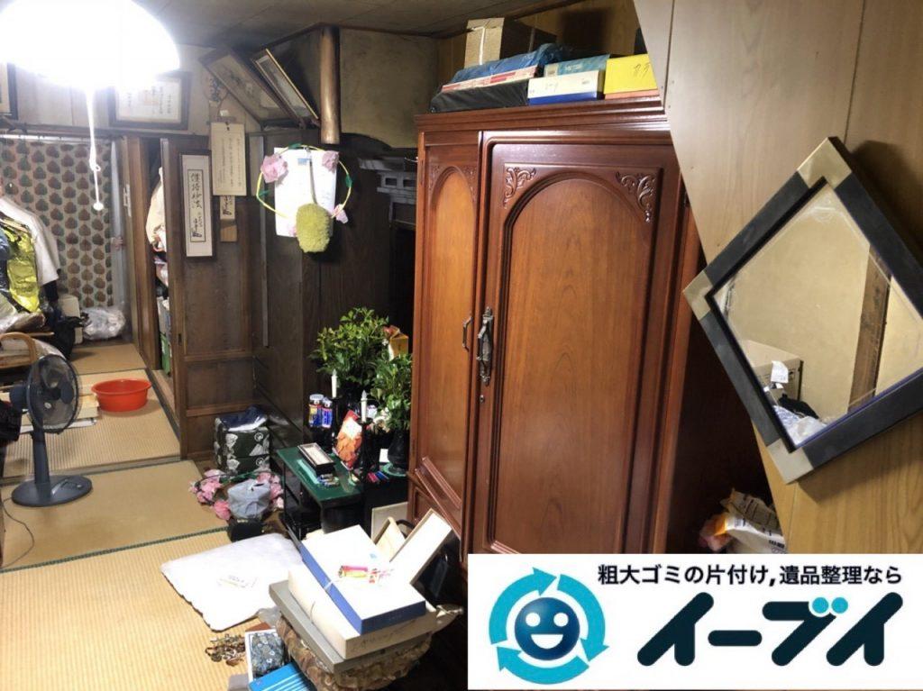 2019年5月22日大阪府大阪市鶴見区で箪笥の婚礼家具の不用品回収。写真3