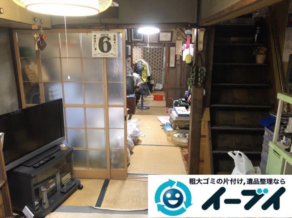2019年5月22日大阪府大阪市鶴見区で箪笥の婚礼家具の不用品回収。写真1