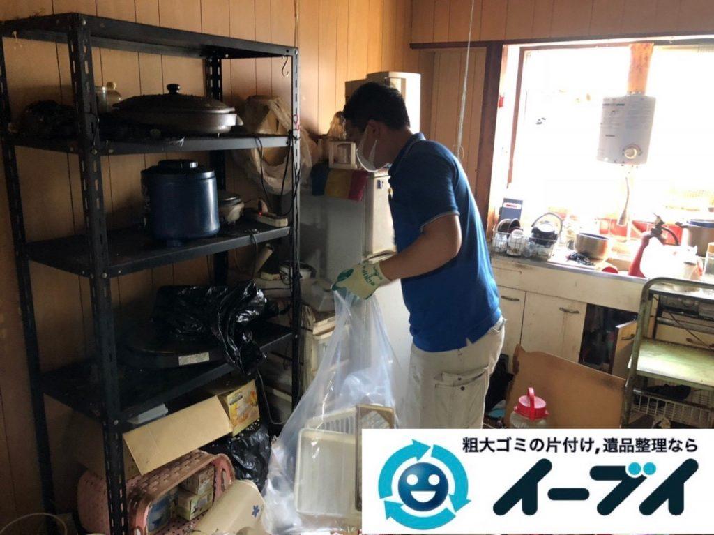 2019年5月23日大阪府四条畷市で台所の冷蔵庫の大型家電や食器棚の大型家具処分の不用品回収。写真4