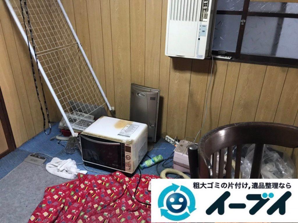 2019年5月24日大阪府門真市でタンスの家具処分、エアコンの家電処分の不用品回収。写真1