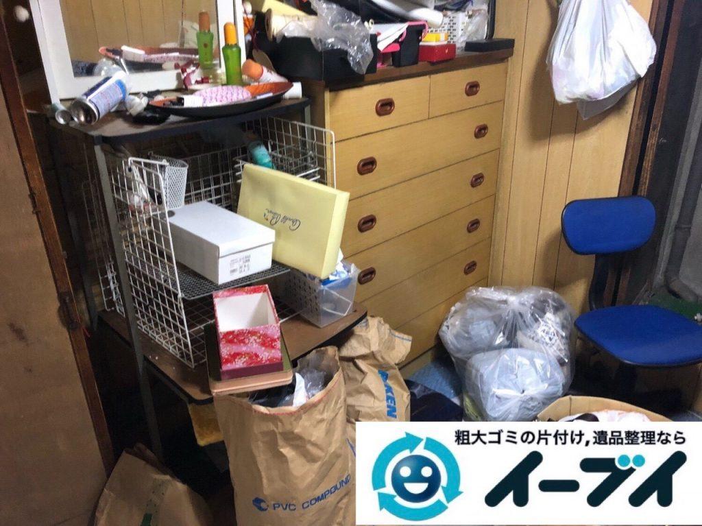 2019年5月24日大阪府門真市でタンスの家具処分、エアコンの家電処分の不用品回収。写真3